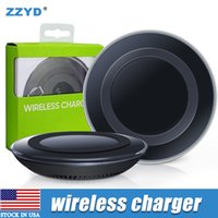Wholesale Package Receivers - ZZYD Universal Qi Wireless Charger Newest Charging Adapter Receiver For Samsung Note Galaxy S6 s7 Edge mobile phone with package