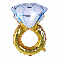 Diamond Ring Party Mylar Balloon Romantico Eco Friendly Stocked Wedding Bridal Shower Anniversary Engagement Party Decoration