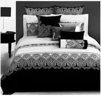 Wholesale King Duvet Set Paisley - Wholesale- 3d bedding sets Classical black white Retro paisley bedding set bed linen duvet cover Pillowcase bed sheet king queen size