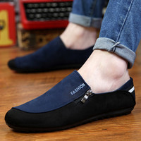Wholesale Mens Casual Shoes Driving Loafers - Driving Shoes Male Suede Leather Casual Flat Shoe Mens Rubber Sole Men Doug Shoes Fashion Joker Man Loafers Shoes 39-44 Retail H312