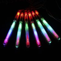 Wholesale Fluorescent Rope Light - LED Light Up Stick Colorful With Rope Plastic Fluorescent Rod Resuable Transparent Flashing Sticks For Concert Party 1jr B