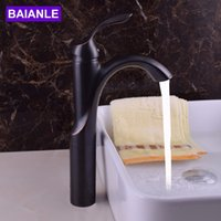 Wholesale Basin Mixer Faucet Accessories - Creative Design Black Basin Faucet Deck-mounted Single Hole Hot and Cold Water Sink Faucet Bath Accessories Tap Mixer