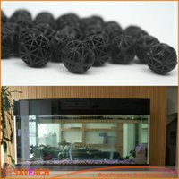 Wholesale Fish Ponds Filter - Black Aquariums Accessories 16mm Biological Bio Balls Aquarium Pond Fish Nano Tank Wet Dry Canister Filter Media