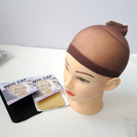 Wholesale hairnets for hair for sale - 2pcs Set Superior Quality Deluxe wig cap hairnets for hair extensions hair wigs wearers Black beige brown Optional