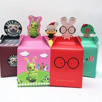 bebek yılbaşı dekorasyonları toptan satış-Noel hediye kutuları 18 cm Noel apple kutusu bebek sürpriz şeker kutusu Yılbaşı Ağacı Süslemeleri Xams karton kutular
