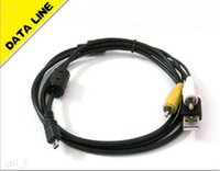 Wholesale Digital Camera Coolpix - 8 Pin USB AV Digital Camera data Cable for Nikon cameras Coolpix S210 CASIO SONY and others