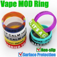 Wholesale slip silicon rubber band vape rings for sale - Group buy MOD protect ring Silicon rubber band for vape mm mechanical mods Non slip decorative and protection resistance bands mod RDA rings
