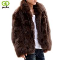 voller länge pelzmäntel großhandel-Wholesale- GOPLUS 2017 Winter-Mode-Männer Faux-Pelz-Mantel dicke warme Jacken Ganzkörper Parka Pelzmäntel Plus Size 3XL Men Overcoat
