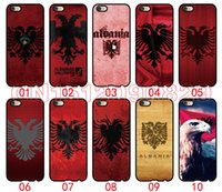 Wholesale S3 Mini Case Flag - Albania flag For iPhone 6 6S 7 Plus SE 5 5S 5C 4S iPod Touch 5 For Samsung Galaxy S6 Edge S5 S4 S3 mini Note 5 4 3 phone cases