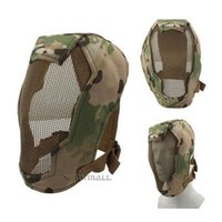 Wholesale Steel Face Protection - Full Face Protection Mask Strike Steel Mesh with Quick Release Buckle Military Tactical Outdoor Sports Cycling 1pcs