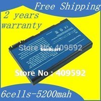 Wholesale Acer Laptop 5515 - Free shipping- 6cells Laptop Battery for Acer Aspire 3100 3103 3690 5100 5101 5102 5110 5515 5610 5630 5650 5680 Travelmate 2450 2490 4200 4