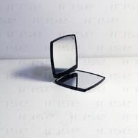 espejos plegables portátiles al por mayor-Marca de moda de lujo compacto espejo cosmético mini espejo de mano belleza maquillaje herramienta de baño portátil facette plegable doble espejo VIP regalo