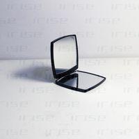 mini-kosmetikspiegel großhandel-Modemarke kompakte luxus kosmetikspiegel mini handspiegel beauty make-up-tool toilettenartikel tragbare falten facette doppelspiegel VIP geschenk