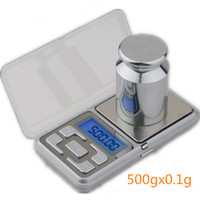 Wholesale Cell Phone Digital Scales - Wholesale-Whollesale hot selling 2016 cute 500 x0.1g balance new LCD Pocket Jewelry Cell Phone scales electronic digital kitchen scale Dro