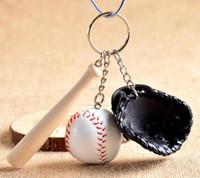 regalos para los fanáticos del béisbol al por mayor-Buena A ++ Béisbol creativo titular de la llave aficionado al béisbol suministros regalos recuerdos deportivos KR154 Llaveros mezclar orden 100 unidades mucho