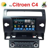 7 'navegação gps venda por atacado-Estéreo do carro Android para Citroen C4 dvd player do carro com Navegação GPS 3G Wifi TV Rádio Bluetooth 7 polegada tela de toque do carro de áudio