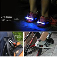 Rechargable High Quality Bike Ciclismo Deportes LED Shoes Clip Luz muñeca señal de seguridad luminosa luz zapatos al aire libre clip partido DHL