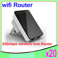 Wholesale Quality Communications - High Quality Portable 300Mbps Wireless-N Mini Router Internet Connection with WiFi Repeater Networking & Communications WPS 20PCS YX-YF-01