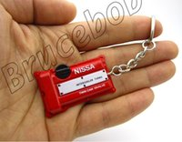 Wholesale nissan racing - Nissan Twin Cam 16Valve racing car Engine cylinder cover intercooler Turbo keychain Keyring Key chain 3 colors