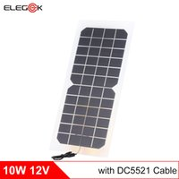Wholesale Flexible Solar Battery - ELEGEEK 10W 12V Semi-Flexible Solar Cell Panel Semi Transparent DC Output Solar Cell with DC Cable for Battery Charging and Solar System