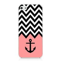 Wholesale Cool Cover Cases 4s - Wholesale Girl Cool Pink Anchor Chevron Vintage Tribal Nebula Hard Mobile Phone Case Cover For Iphone 4 4S 5S 5C 6 6plus