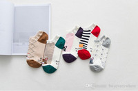 Wholesale Cotton Socks Bulk - Casual Lovely Staduents Cartoon Cat Jacquard Ankle Low Cut Footed Short Tube Cotton Socks Bulks Wholesale 20 Pairs Lot