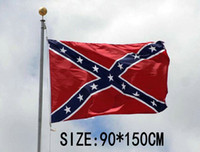 Wholesale Wholesale Confederate Flags - Two Sides Printed confederate Flag National Polyester Flag 5 X 3FT Confederate Rebel civil war rebel flag 30Pcs