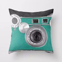 Wholesale Plush Camera - Wholesale-Camera Printed Pillow Cover Plush Cushion Square Case Decal Throw