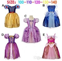 Wholesale Lace Wholesale Childrens Dress - Summer Childrens Baby Girls Clothes Kids Toddler Birthday Costumes Short Sleeve Cinderella Girls Princess Party Dresses