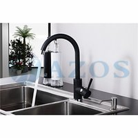 black chrome spray paint - Kitchen Sink Faucets Modern Black Painting Rotatable Waterfall Hose Spray Single Handle Nickle Brass Deck Mixers Sets