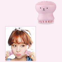 Wholesale Face Washing Silicone - Wash Brushes Super Little Cute Octopus Face Cleaner Massage Soft Silicone Facial Brush Face Cleansers Blackhead Spot Acne 3006049