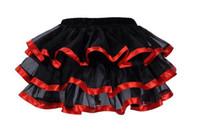 Wholesale Black Gothic Tutu - Wholesale-Plus Size Tulle Skirts Women Sexy Underwear Slimming Corset Tutu Dress Gothic Skirt Underskirt Control Slips S M L XL XXL