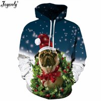 2018 Winter Christmas Hoodies Donna Uomo 3D Felpe Pug Snow Tree Hat Deer Cat Dog Babbo Natale Abbigliamento Felpa con cappuccio
