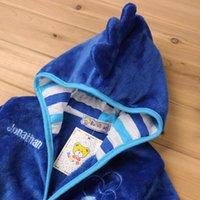 Wholesale Baby Thermal Sleepwear - wholesale kids clothes Mickey Minnie Mermaid Children's Towels Robes baby clothing Pajama Lingerie Sleepwear Bath Gown pjs Nightgown WD218AA