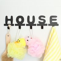 spelling tools - iron English letters creative wall hanger adhesive style DIY spelling combination clothes metal hook
