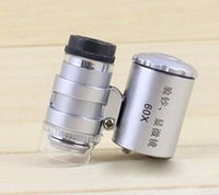 Wholesale New X Pocket Jewellers Loupe Microscope Glass Jewellery Magnifier LED UV Light