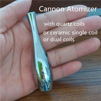 Wholesale Quality Vases - Skillet Vase Cannon Dual Coil Wax Atomizer Cannon Bowling Pin Vase Style Wax and Dry Herb Atomizer Clearance Wholesale High Quality Cannon