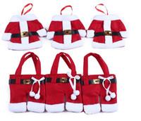 trajes de árvore venda por atacado-Árvores de natal penduradas decorações do partido Santa Claus costume use para festa festival suprimentos Xmas Faca e garfo capa 6 unidades / pacote