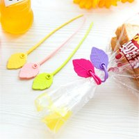 Wholesale Bag Sealing Tape - Leaf shaped elastic tape silicone food bag clip Kitchen snacks sealing moisture-proof strapping tape kitchen accessories