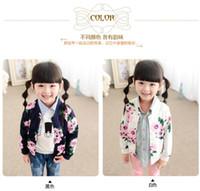 Wholesale Han Baseball Jacket - The new autumn outfit 2015 han edition cardigan coat baseball uniform flowers leisure jacket of the girls BH1209