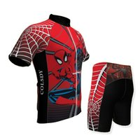 Wholesale Boys Cycling Jersey - Good quality Red Spider Kid short sleeve+Trousers set Cycling Jersey bike cycle bicycle jersey cycling clothing