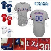 Wholesale Shirts Numbers - 30 Teams- Free Shipping Texas Rangers Jersey New Customized Baseball Jerseys Your Name & Number Stitched Shirt 538