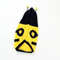 Wholesale Bumble Bee Dog - Free Shipping Cute Bumble Bee Costume Clothing Outfit For Small Dog Cat Hot Sale