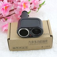 Wholesale Gps Points - GPS Free shipping One Point Two Car Cigarette lighter Socket Auto Power Splitter Converters Black CELC028