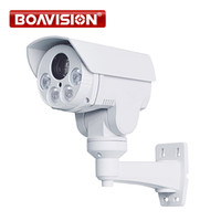 Wholesale camera sd ir ip online - Rotary P Outdoor Bullet PTZ IP Camera MP X Zoom M IR CCTV IP Camera SD Card Slot With POE Alarm Audio in Optional