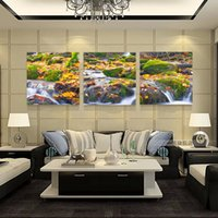 3 Pieces Modern Painting Picture Paint on Canvas Prints Daisy Blue flowers Coffee Chinese proverb fish Lotus Mountain cenas naturais