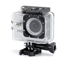 medidor de ángulo al por mayor-Cámara vendedora caliente del deporte de HD 1080p - sensor de 2,0 megapíxeles CMOS ángulo de la lente de 140 grados 30 metros de la gama impermeable Envío libre
