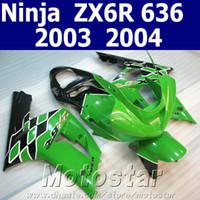 Wholesale kawasaki ninja 636 parts for sale - Group buy Free Customize motorcycle parts for kawasaki fairings ZX6R Ninja ZX R green black fairing kit ZQ6