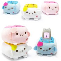 Wholesale Phone Holder Tofu - Free shipping New Holder Cute Cartoon Tofu Plush Protect Block Seat Stand Mobile Cell Phone AS