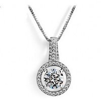 011 Jewelry Romantico argento 925 White Sapphire CZ Diamonique Pendant di Lady